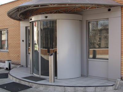 Автоматические круглые раздвижные двери
